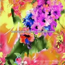 Para Lady Dress Flor Roja Primavera y Verano Tejido de Seda Chino