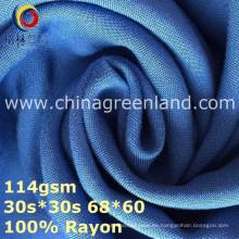 Tela de teñido tejida llana del rayón del 100% para la ropa de materia textil (GLLML369)