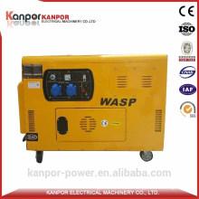 10kVA Water Cooled Silent Electric Start Portable Diesel Generator