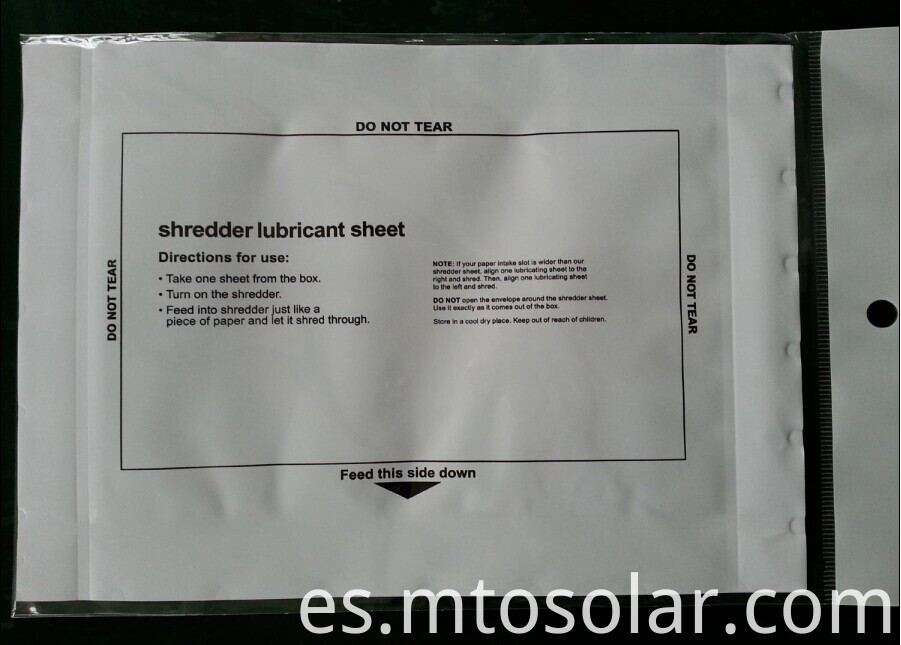 shredder lubricant pouch