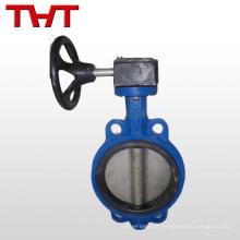 dn100 válvula de borracha de borracha de vedação de borracha de ferro fundido com caixa de velocidades