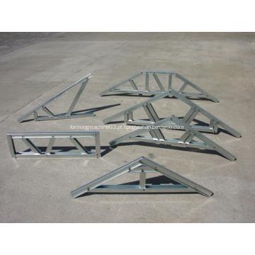 Fardo de telhado de aço de bitola leve e joist de chão