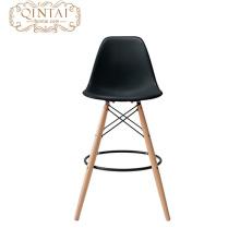 pierna plástica popular barata de madera de haya del amd del asiento para la silla plástica de la barra del restaurante con de alta calidad