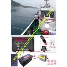 Retrofit Fischerboot Solarenergie, Solar Panel + Solar Marine Licht + Floating Light + Solar Batterien