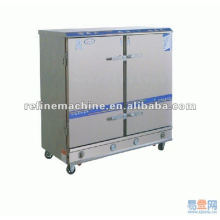 Stainless steel double door steam rice machine/steaming cars
