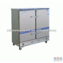 Aço inoxidável porta dupla máquina de arroz a vapor / carros vapor