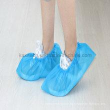 Cubierta antideslizante no tejida disponible Kxt-Sc39 del zapato de la prenda impermeable PP / PE del hospital