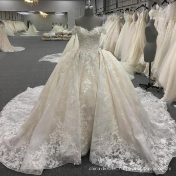 Elegant off shoulder ball gown ivory wedding dresses WT260 Vestido de novia 2017