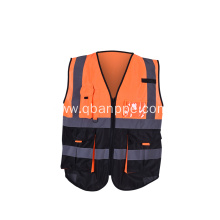 high visibility biocolor vest with reflective tape