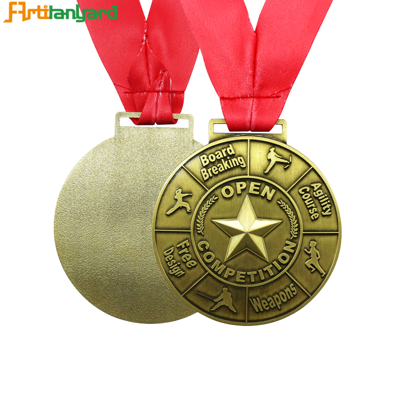Personalized Logo With Gold Medal