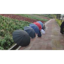 2020 Großhandel silberbeschichteter UV-Block gelb gerader Griff Regenschirm für Frauen