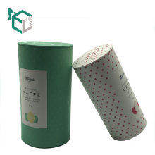 custom paper tube coffee packaging tea caddy with logo printing