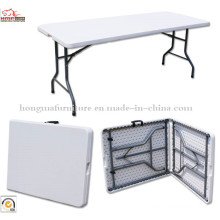 6ft Cheap HDPE Plastic Blow Molded Folding Table and Chairs for Wholesale