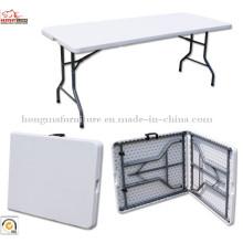 6ft дешевый полиэтиленовый пластиковый выдувной формованный складной стол и стулья для оптовой продажи