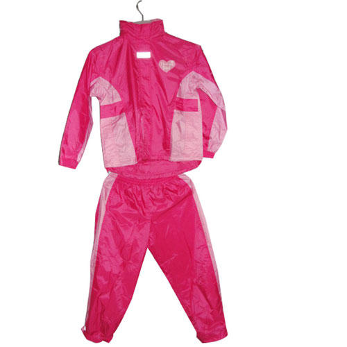 Girl's Polyester PVC Raincoat