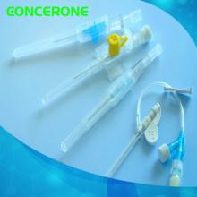 Cánula intravenosa desechable con válvula de inyección