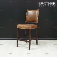 Meilleur prix en marché bar chaise vintage en cuir bar tabouret chaise haute