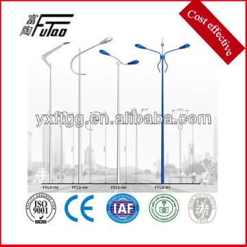 Poste de la lámpara de acero del brazo del solo o doble de 6-12meters