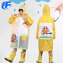 Impermeable amarillo impermeable largo de PVC