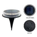 Solar Ground Lights, Solar Powered Waterproof In-Ground Lights for Garden, Lawn, Pathway, Walkway, Deck, Yard