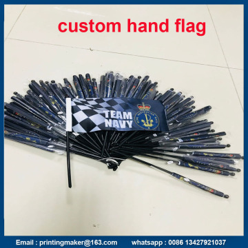 Custom Hand Held Waving Flags with Flagpole