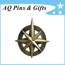 3D Metal Badge with Cut out in Antique Finish (badge-220)