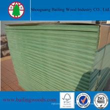 MDF Hmr de alta resistência à umidade de 18mm com núcleo verde