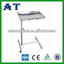 Table à instruments réglable en hauteur en acier inoxydable