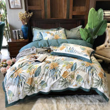 Home Bedding Cheap Price Bedding Set Cotton Brushed Fabric Comfortable for 3PCS Full Bed Sheet