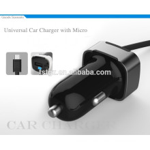 Cargador universal del coche de las NUEVAS cargas 2015 con el micro para los teléfonos