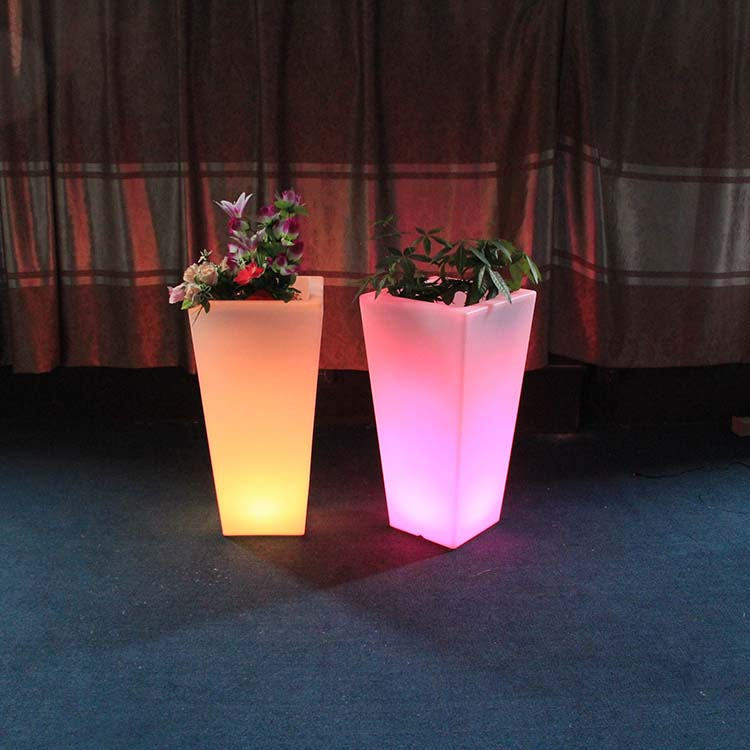 Party Decoration Light Up Led Flower Pots