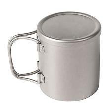Titanium Double Wall Mug with Handle & Lid