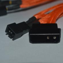 Molex para cabo adaptador de ventoinha de 3 pinos