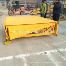 Proveedor de China monopatín muelle rampa de elevación / rampas de carga