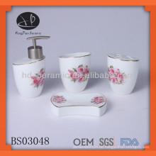 4pcs keramische Tulpe Badezimmer gesetzt