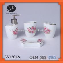 4pcs ceramic tulip bathroom set