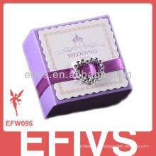 Novo Delicado Cute Purple Wedding Favor Caixa Atacado
