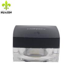 empty plastic square cosmetic for skin cream acrylic airless jars