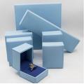Caixa de jóias de luxo azul para pulseiras e colares