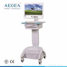 AG-WT002C Estación de trabajo móvil lujosa con carros médicos sobre ruedas