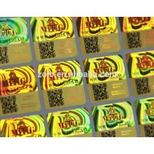 Material anti-contrafacção e impressão de adesivos de holograma em material PET