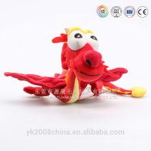 ICTI fábrica al por mayor de gran dragón de peluche y dragón de carnaval dragón de peluche
