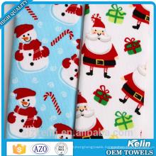 sublimation print microfiber 100% polyester christmas tea towel with high quality