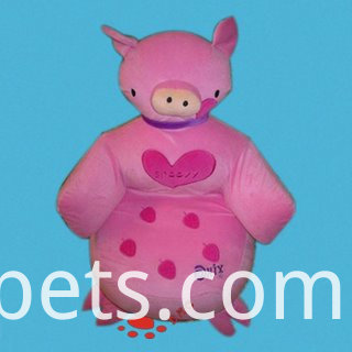 pink pig siamese cushion pillow