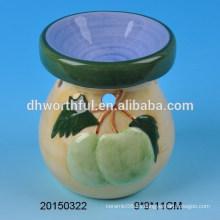 Home decoración quemador de aceite de cerámica con la figura de fruta