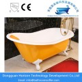 Yellow color cast iron bathtub