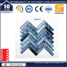 Blue Strip Crystal Glass Mosaic Mm60051