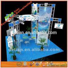 cosmetic acrylic display stand with hanging sign for expo booths from shanghai