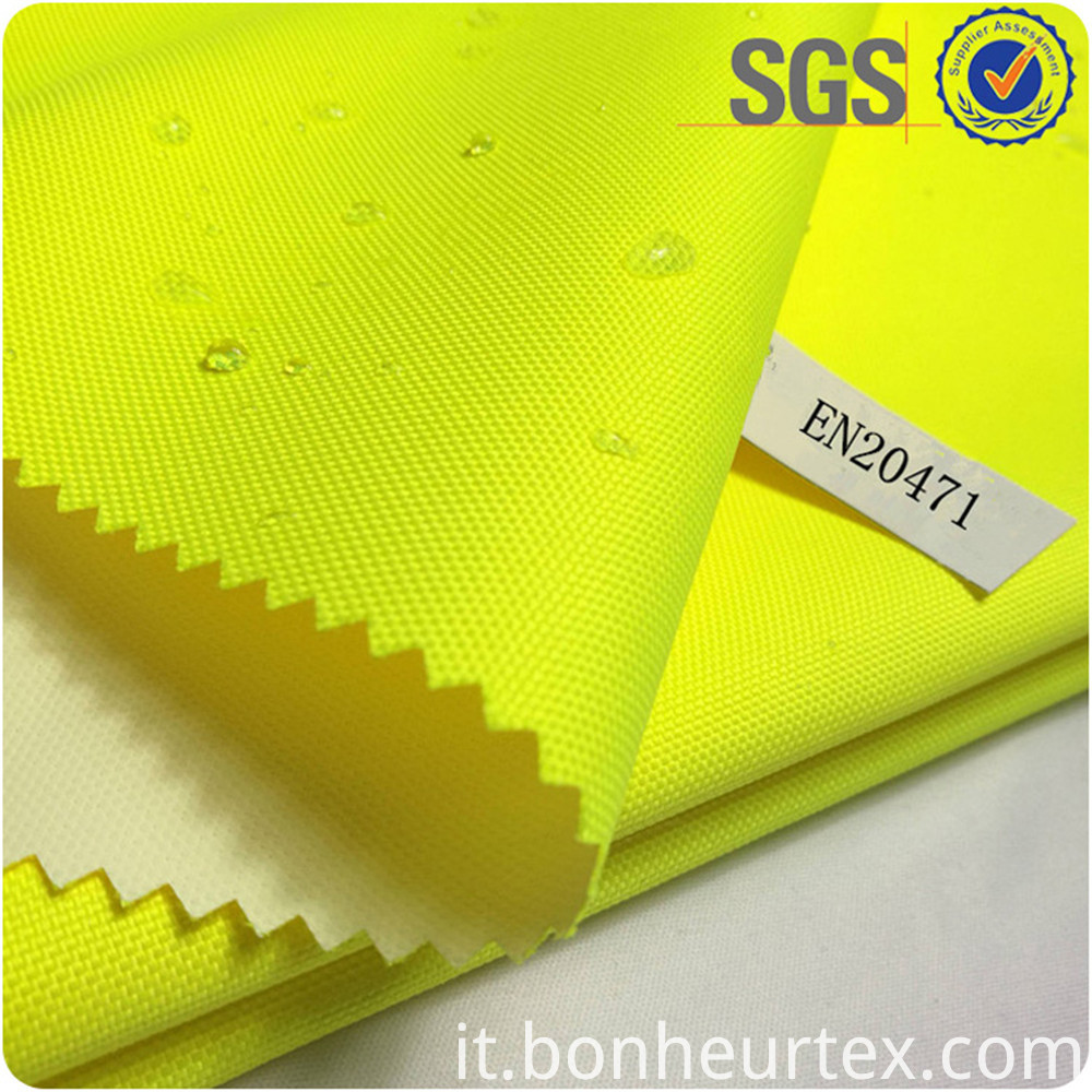 High Visibility Breathable Coating EN343 fabric