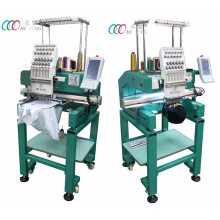 Single Head Intelligent Embroidery Machine For Cap / T-shirt With Multi-needles , Touch Screen